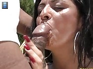 Julianna smashed her big ass into his face and smothered him with her huge tits.